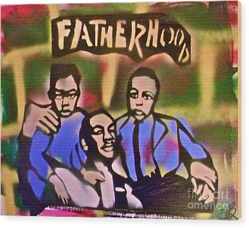 Mlk Fatherhood 2 Wood Print by Tony B Conscious