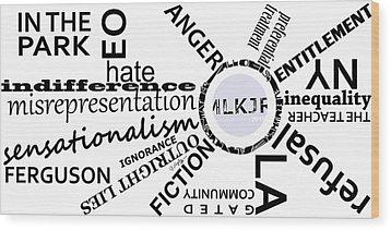 M L K J R 2015 Wood Print