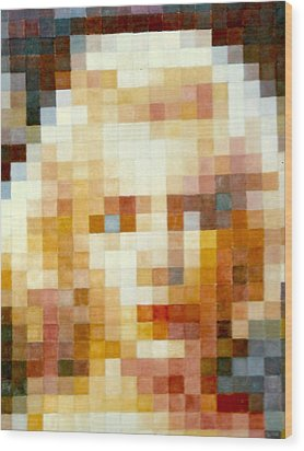 Wood Print featuring the painting Marylin by Henryk Gorecki
