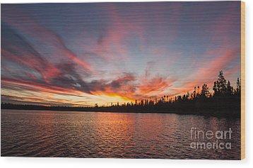 Mn Sunset Symphony Wood Print