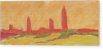 Mobile Skyline Early Summer Morning Wood Print