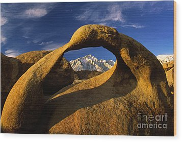 Mobius Arch Wood Print by Inge Johnsson