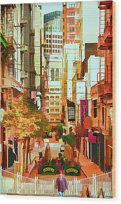Mocca On Maiden Lane Wood Print by Bill Gallagher