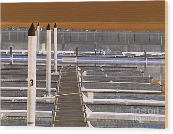 Mocha Dock 2 Wood Print