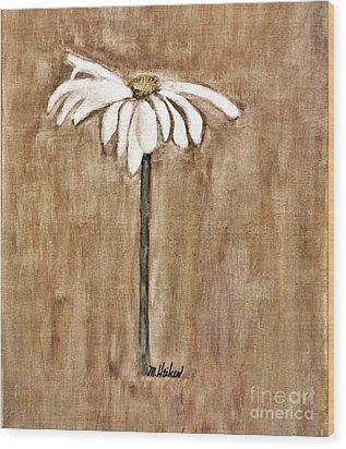 Mod Daisy Wood Print by Marsha Heiken