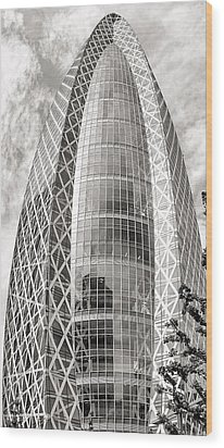 Mode Gakuen Cocoon Tower Wood Print by For Ninety One Days