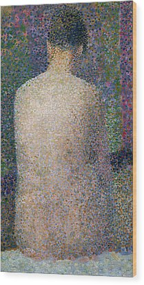 Model From The Back Wood Print by Georges Pierre Seurat