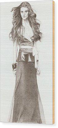 Model Wood Print by Nur Adlina