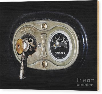 Model T Control Panel Wood Print by Al Powell Photography USA