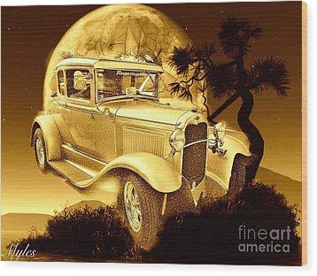 Model T Fantasy  Wood Print by Saundra Myles
