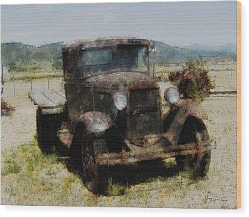 Model T Ford Wood Print