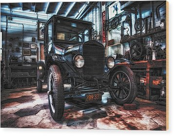 Model T In Hdr Wood Print