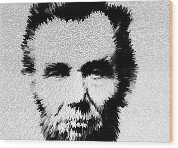 Modern Abe - Abraham Lincoln Art By Sharon Cummings Wood Print by Sharon Cummings