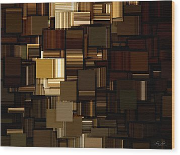 Modern Abstract Iv Wood Print by Lourry Legarde