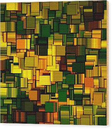 Modern Abstract Xxii Wood Print by Lourry Legarde