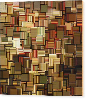 Modern Abstract Xxiii Wood Print by Lourry Legarde