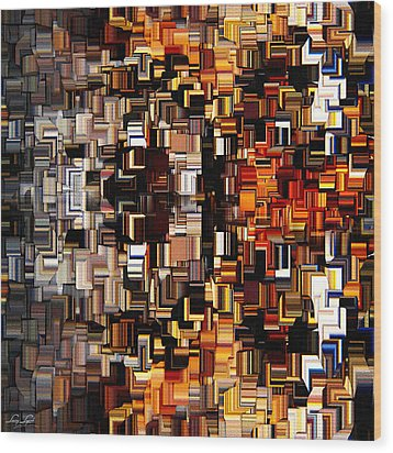 Modern Abstract Xxvii Wood Print by Lourry Legarde