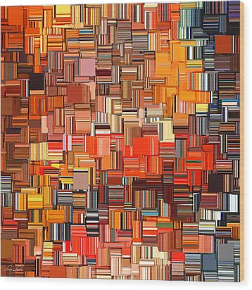 Modern Abstract Xxxi Wood Print by Lourry Legarde