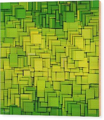 Modern Abstract Xxxiii Wood Print by Lourry Legarde