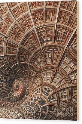 Modern Architecture  Wood Print by Heidi Smith