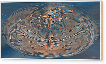 Wood Print featuring the digital art Modern Art Vi by Roy Erickson