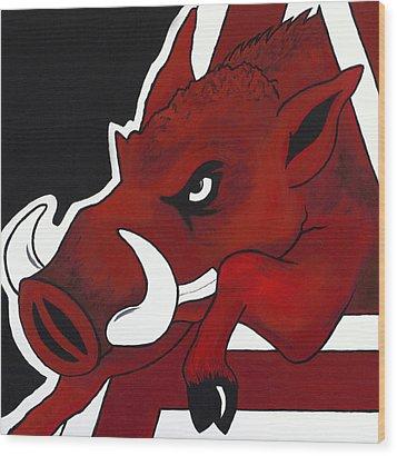 Modern Hog Wood Print by Jon Cotroneo