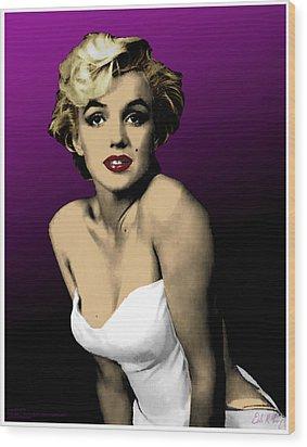 Modern Marilyn Wood Print by Dale Loos Jr