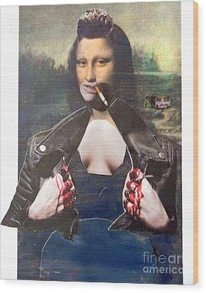 Modern Mona Wood Print