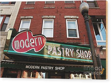 Modern Pastry Shop Wood Print by John Rizzuto