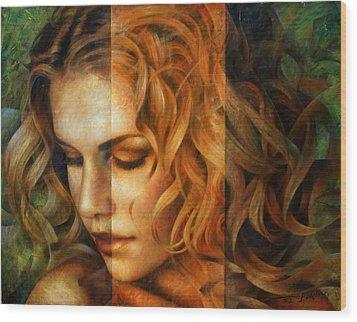 modified version of Portrait Wood Print by Arthur Braginsky