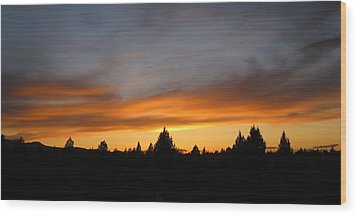 Modoc Sunset Wood Print