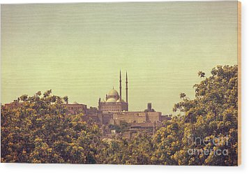 Wood Print featuring the photograph Mohamed Ali Mosque by Mohamed Elkhamisy