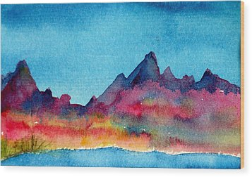 Mohave Mountains Wood Print