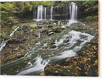 Mohawk Falls 1 Wood Print