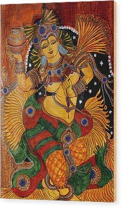 Wood Print featuring the painting Mohini by Saranya Haridasan