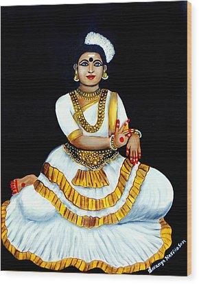 Mohiniyattam Wood Print by Saranya Haridasan