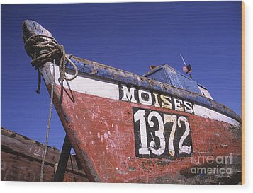 Moises The Fishing Boat Wood Print by James Brunker