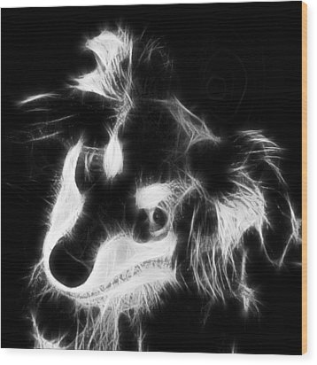 Moja - Black And White Wood Print by Marlene Watson