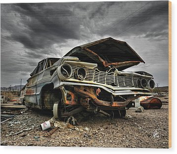 Mojave Hdr 012 Wood Print by Lance Vaughn