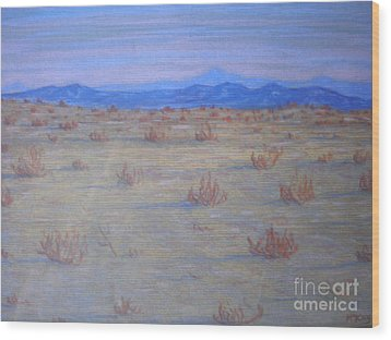Mojave Memories Wood Print by Suzanne McKay