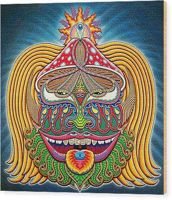 Moksha Master Wood Print by Chris Dyer