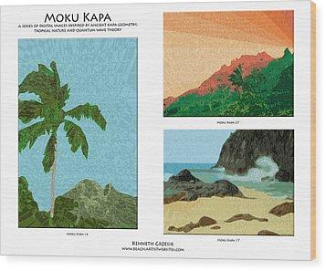 Moku Kapa Poster Wood Print by Kenneth Grzesik