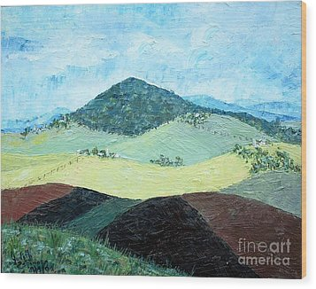 Mole Hill - Sold Wood Print