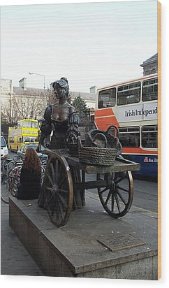 Wood Print featuring the photograph Molly Malone by Barbara McDevitt