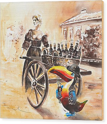 Molly Malone Wood Print by Miki De Goodaboom