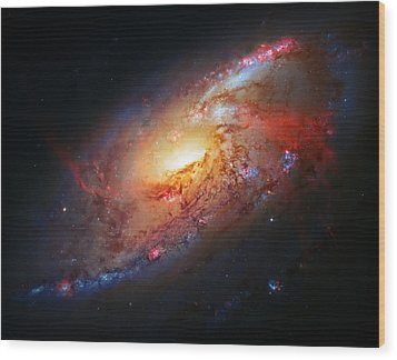 Molten Galaxy Wood Print