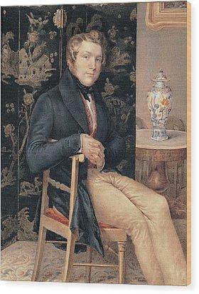 Molteni Giuseppe, Man Portrait In An Wood Print by Everett