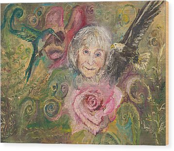 Mom Jeanne Wood Print