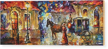 Momentary Stop Wood Print by Leonid Afremov