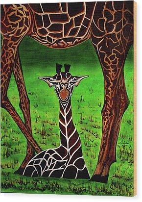 Momma's Boy Wood Print by Adele Moscaritolo